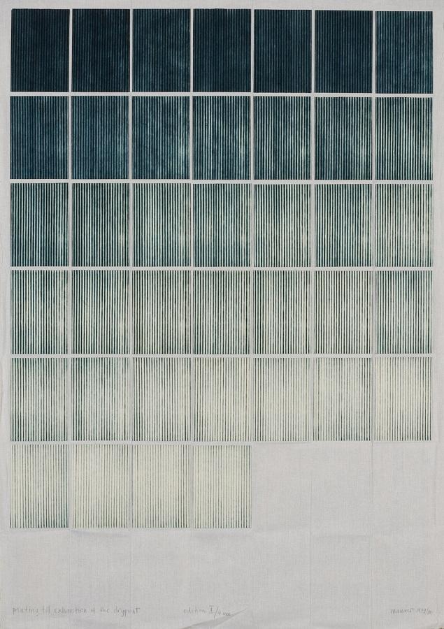 obsessedbythegrid :    Dora Maurer: Printing Till Exhaustion, 1979