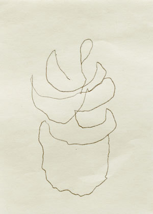 "Agnes Martin, ""Untitled"" (2004). Ink on paper. 3 ½"" × 2 ¾"". Courtesy of Peter Blum Gallery, New York."
