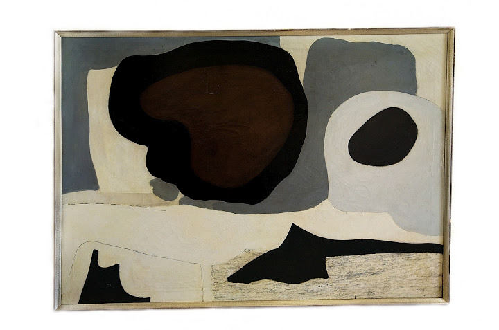 """conversationswiththelight :     Agnes Martin,  Mid-winter , 1954, oil on canvas, 33"""" x 48,"""""""