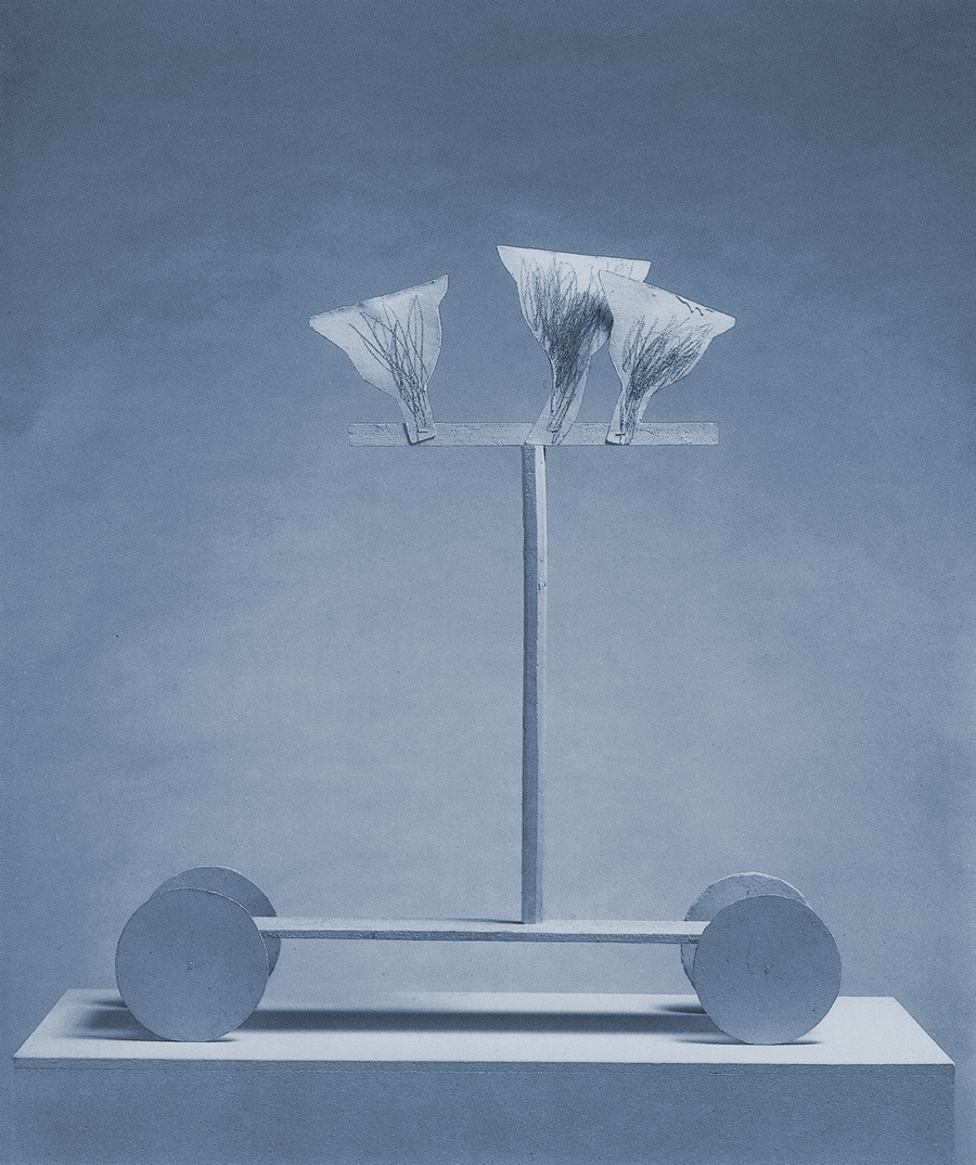 Cy Twombly  UNTITLED, ROME, 1977 / PAINTED SYNTHENTIC RESIN, CAST NO. 2/6, (87 X 79 X 18.5 CM).