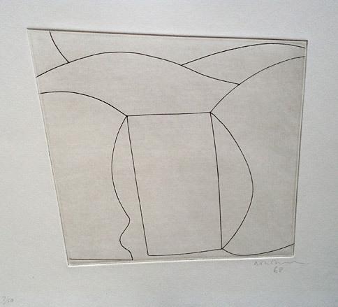 Ben Nicholson - Three Forms in a Landscape, 1968