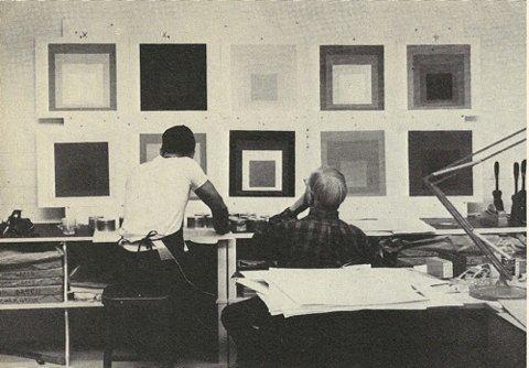 Josef Albers working at Tamarind, 1963