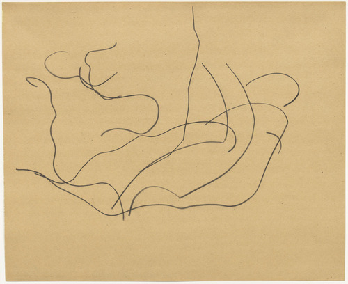 Ellsworth Kelly Automatic Drawing: Pine Branches VI