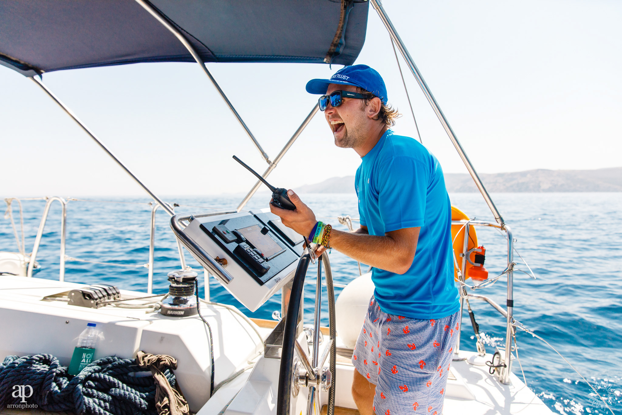 Skipper Manager 'Maverick' smiling for once - The Mykonos Route