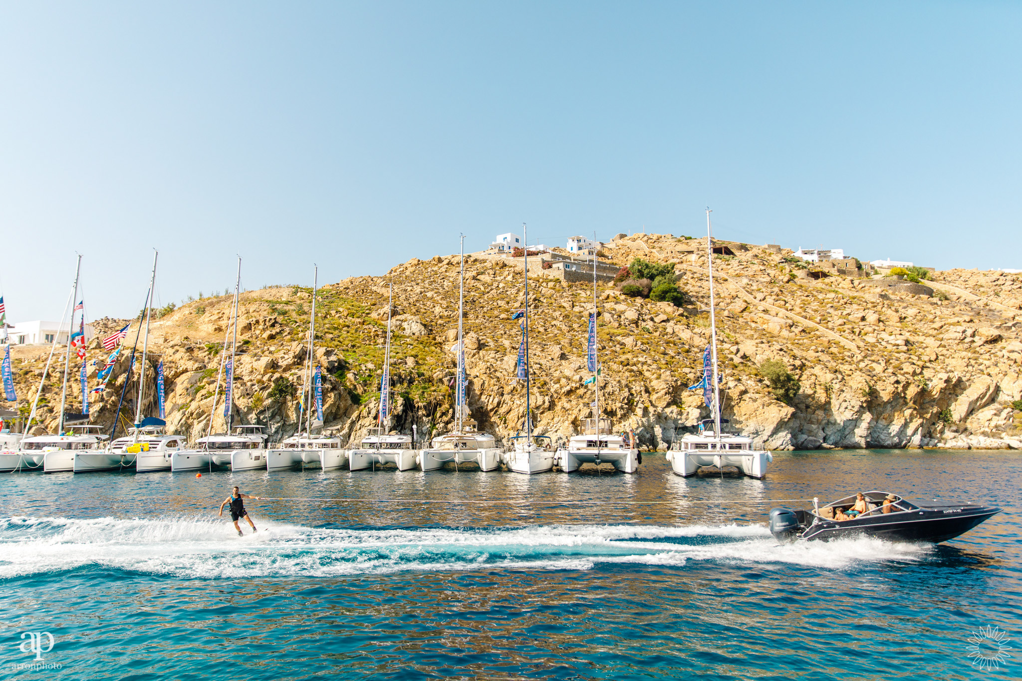 Buzzing the raft - The Mykonos Route