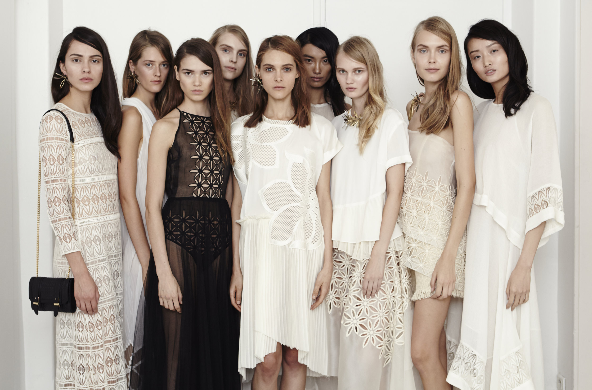 Backstage at the Kaviar Gauche S/S 15 show in Paris © Cathleen Wolf