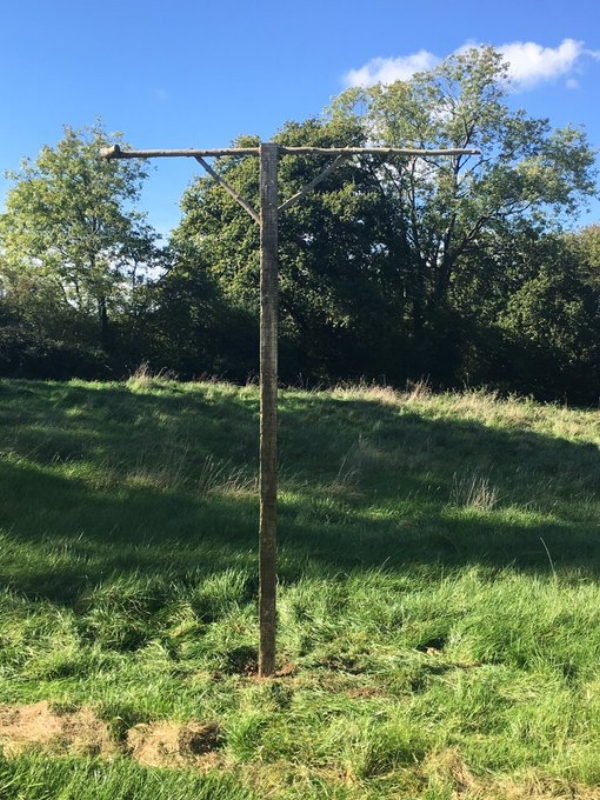 This hunting stand enables the owl to hunt during cold winter nights, and do so without having to be on the wing.  Hunting on the wing consumes energy & calories - the hunting stand helps conserve both and therefore aids survival. I often find droppings (never pellets) under the stands. There are currently 3 stands at Underhill Wood.