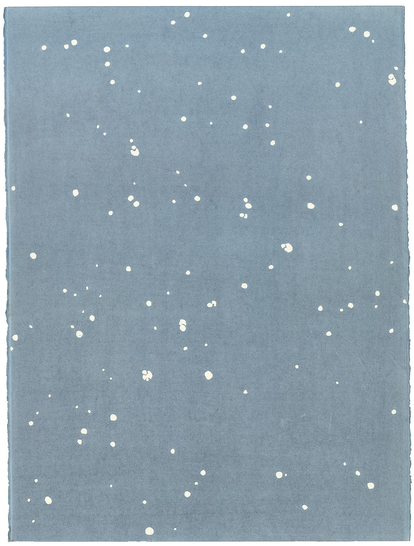 """- ….""""Flamingo"""" constellation. From the """"Abolished constellation"""" series...Созвездие """"Фламинго"""" из серии """"Отмененные созвездия"""". Хлопковая бумага, тушь, графитная пудра, 2018.…."""