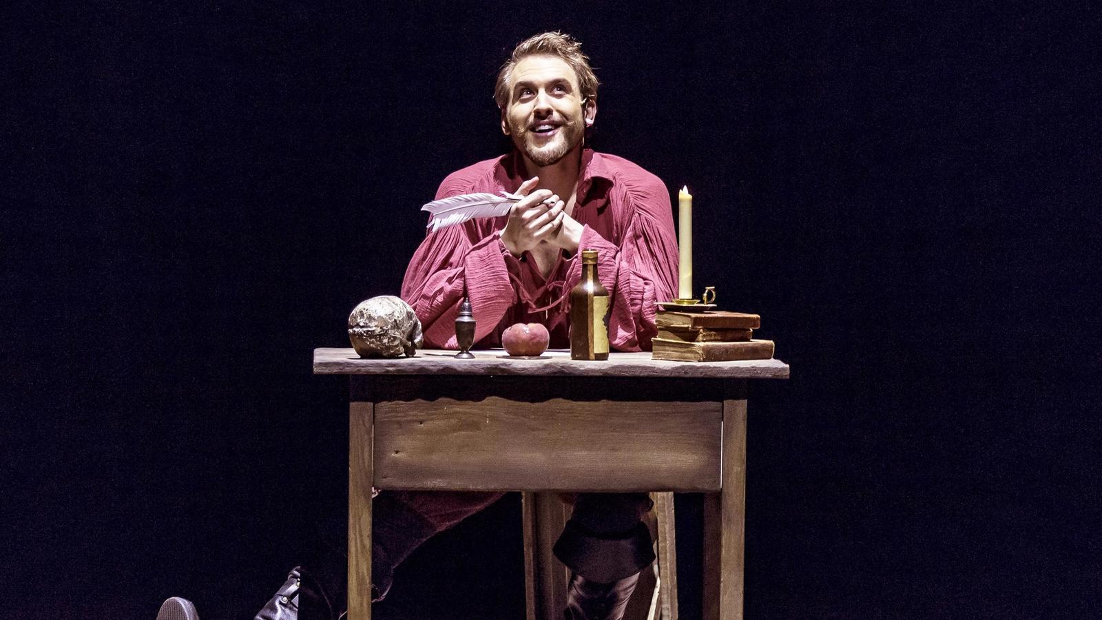 Nick Rehberger as William Shakespeare in Shakespeare In Love