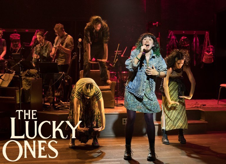 Adina Verson in The Lucky Ones ( Sara Krulwich/The New York Times )