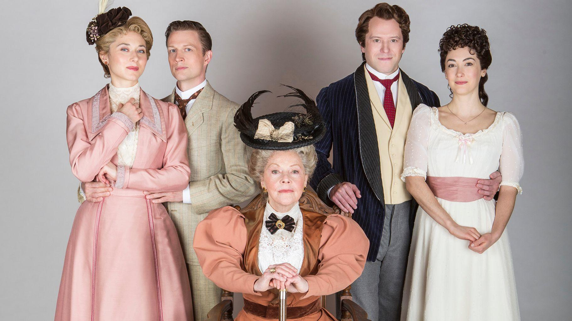 Helen Cespedes (far right) with the cast of Age of Innocence