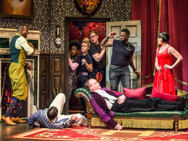 The Play That Goes Wrong as Annie by Mark Bell