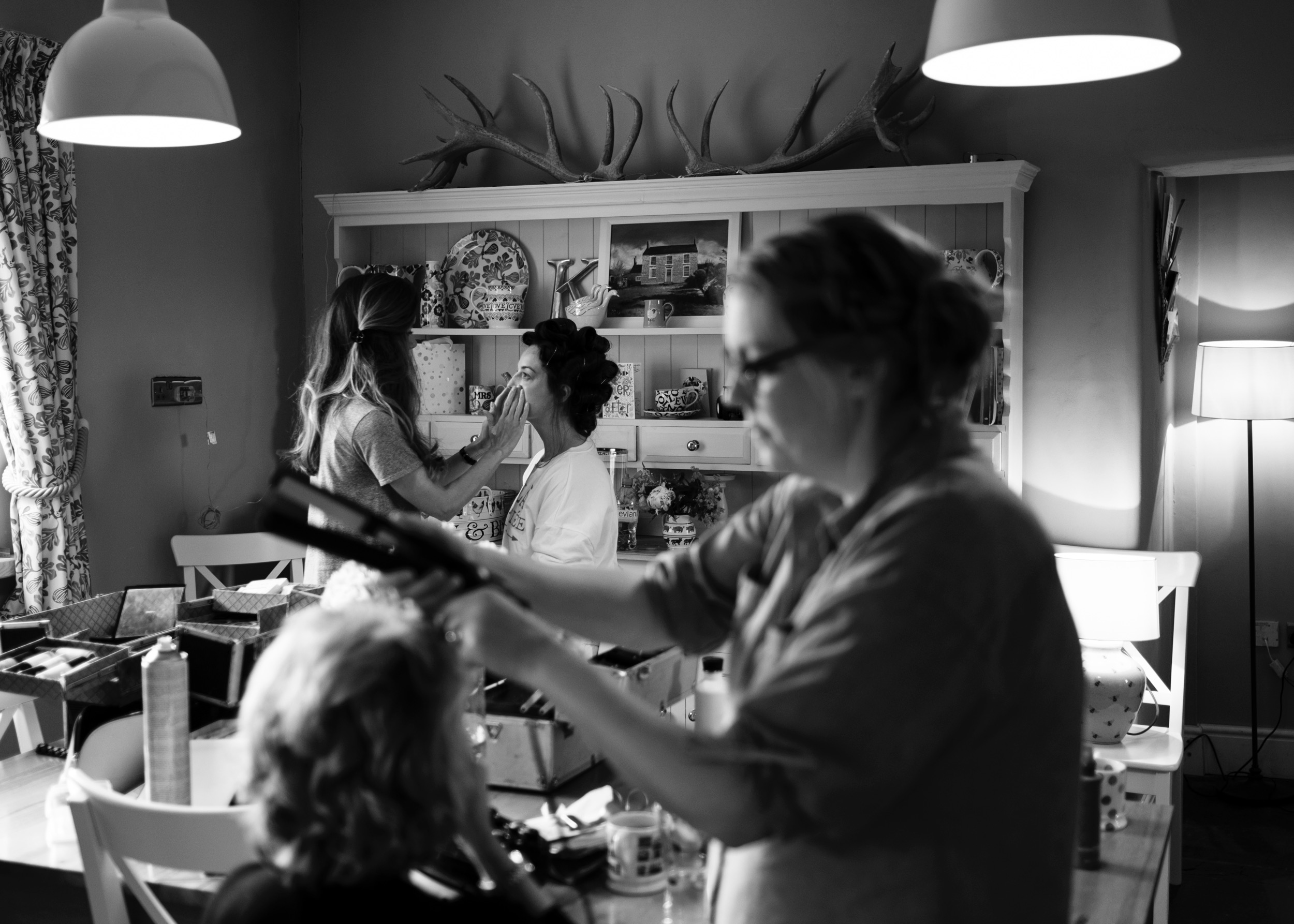 Hair and Make-up in gloucestershire on the morning of a country wedding
