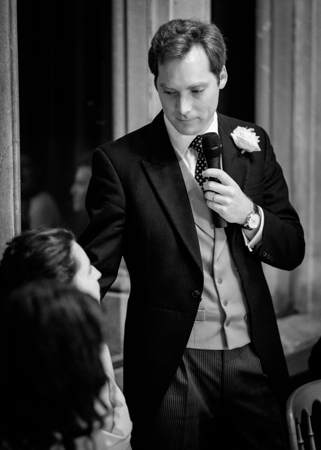 Weddding Photographer Rupert Marlow photograph of the groom looking at bride