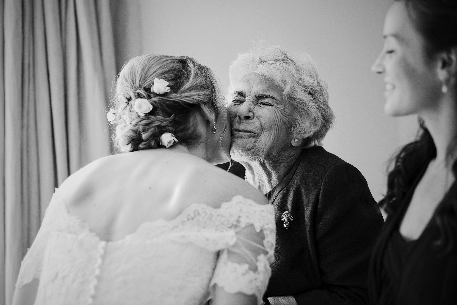 Proud Grandmother on the morning of a Wedding