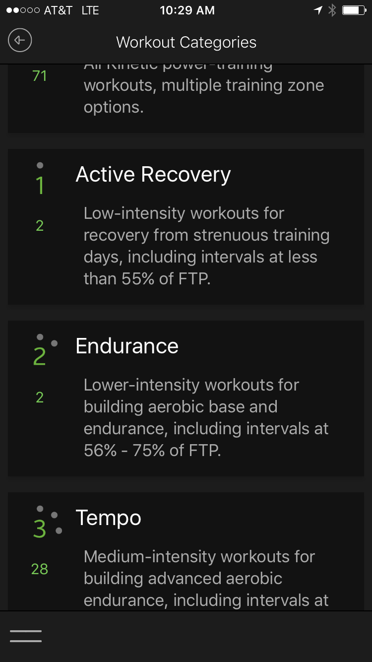 1. Go to a workout category