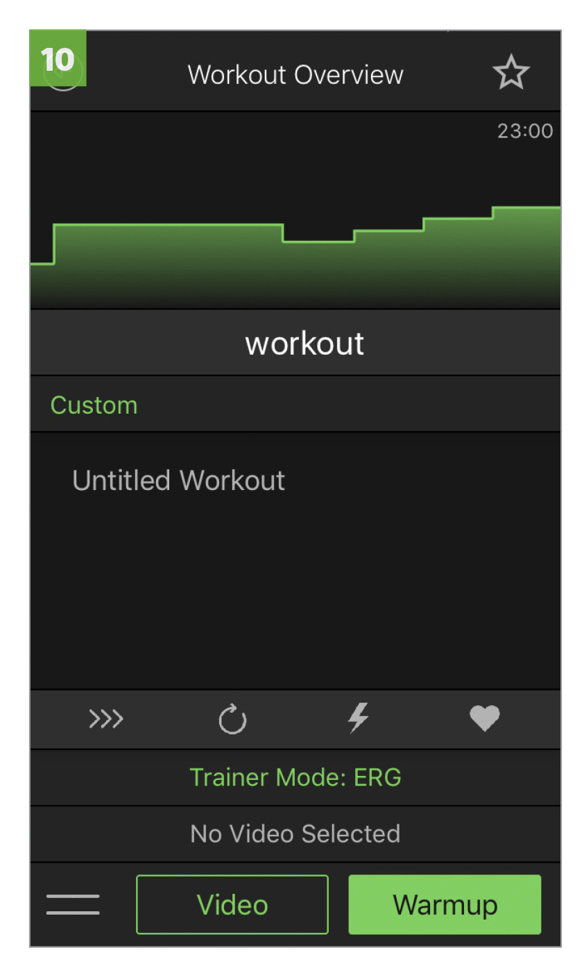 The workout will automatically open in the Fit app, and will be stored in your  CUSTOM WORKOUTS  section on the app. Open and rename the workout.