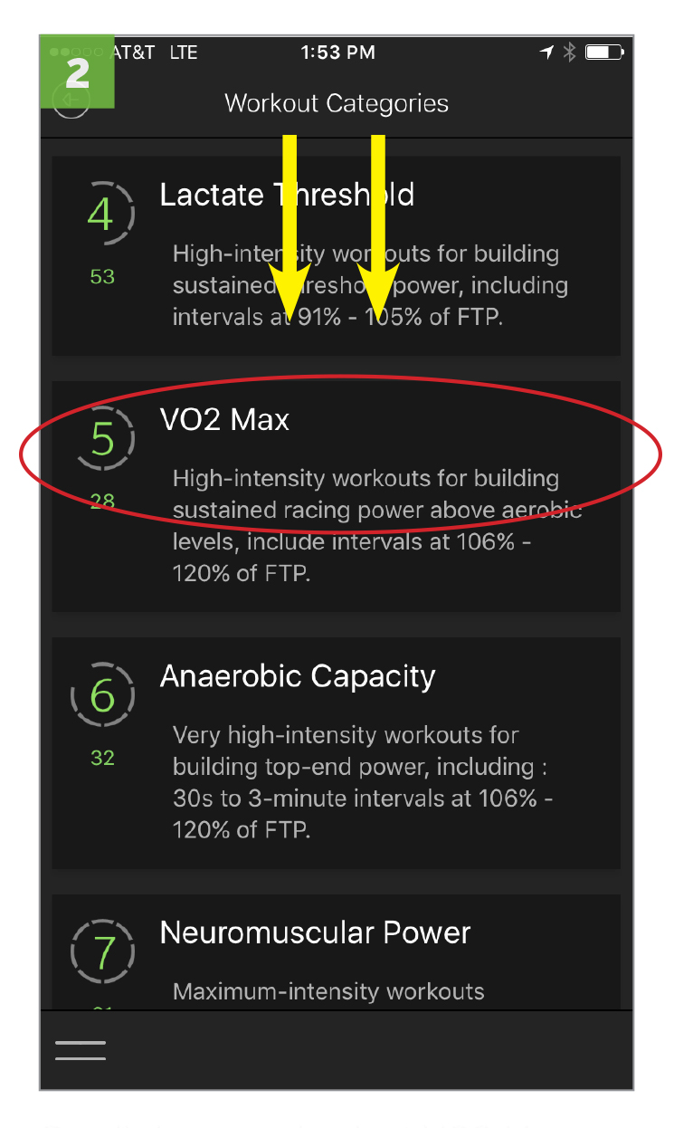 Next, scroll down and select VO2 MAX