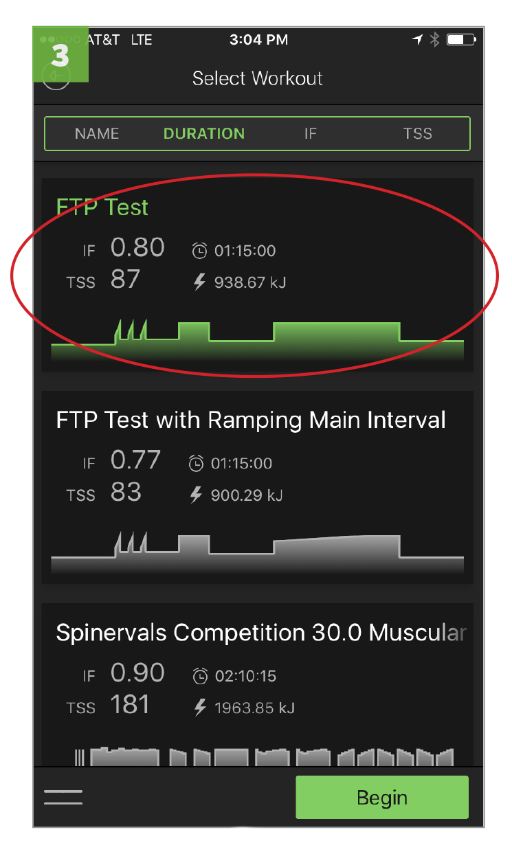 Scroll down and select either FTP test option