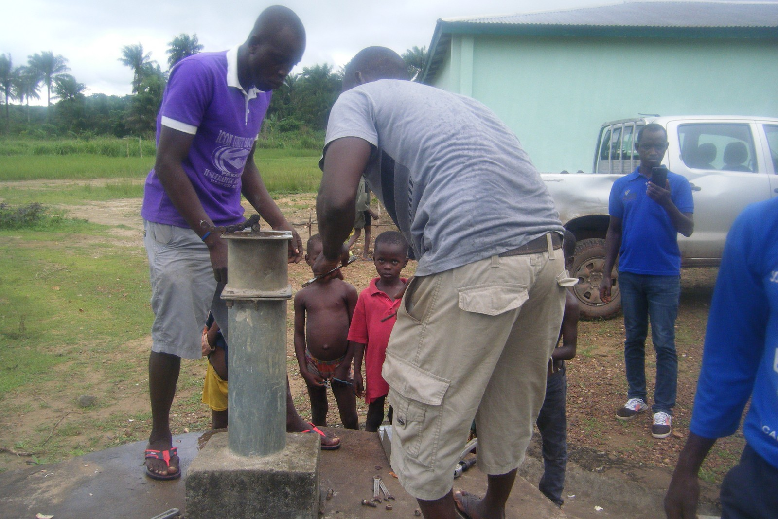 Dismantling Water Well Pump at the Primary School in Katick in preparation for Rehabilitation (2).jpg