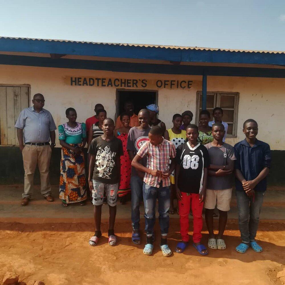 Happy scholarship recipients in Geisha, Mzuzu, Malawi