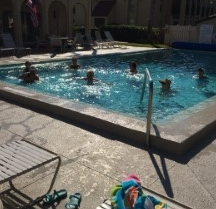 Water Aerobics Monday and Friday. Weather permitting.