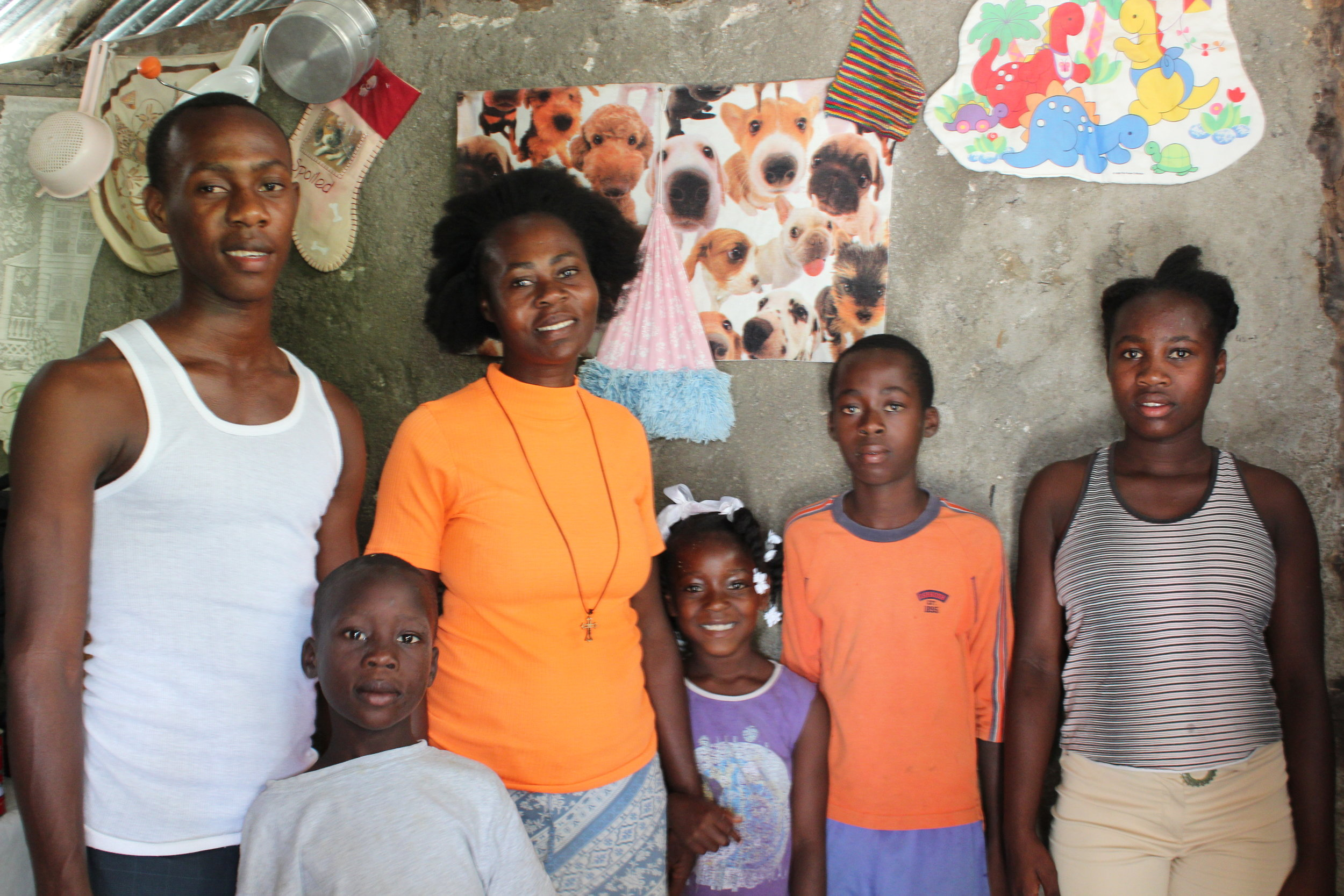 Family in Les Cayes