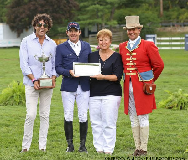 M. Michael Meller presents the style award at the American Gold Cup.