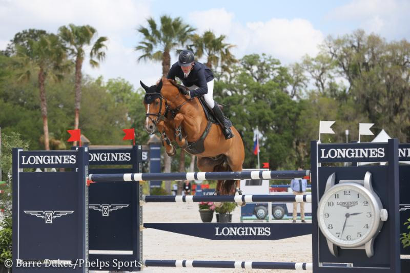 Beat Mandli riding Galan S to a third place finish in the $100,000 Longines FEI World Cup™ Grand Prix CSI3*-W.