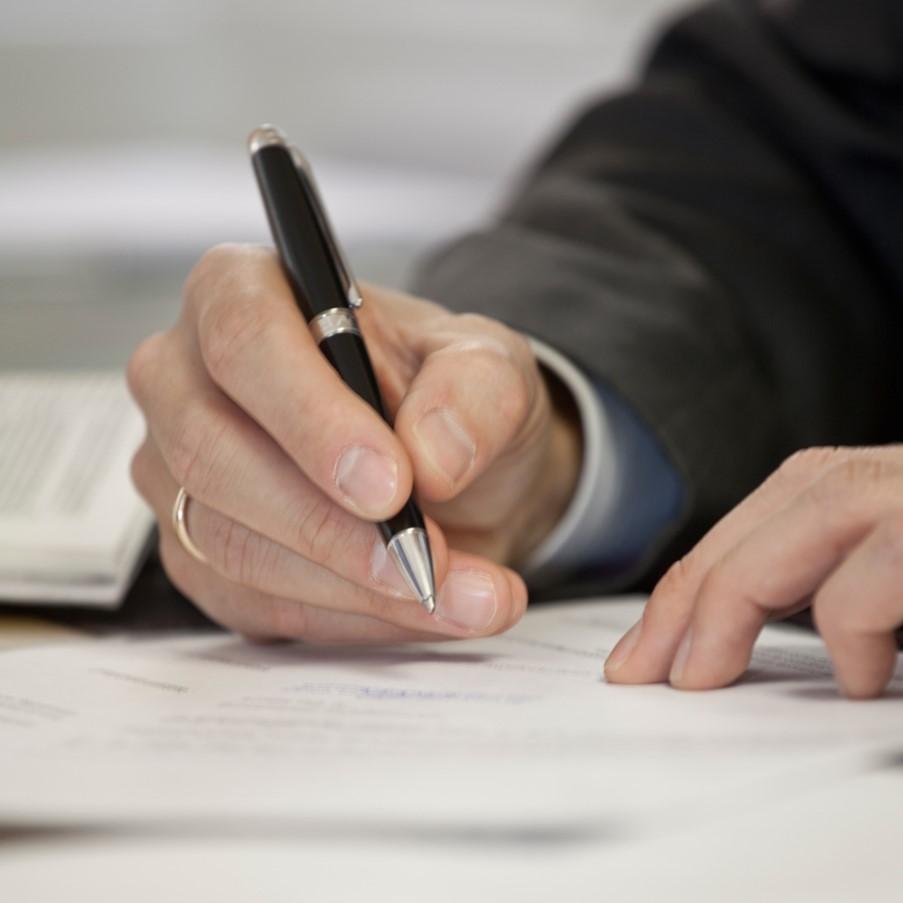 Grafik Hand schreibt