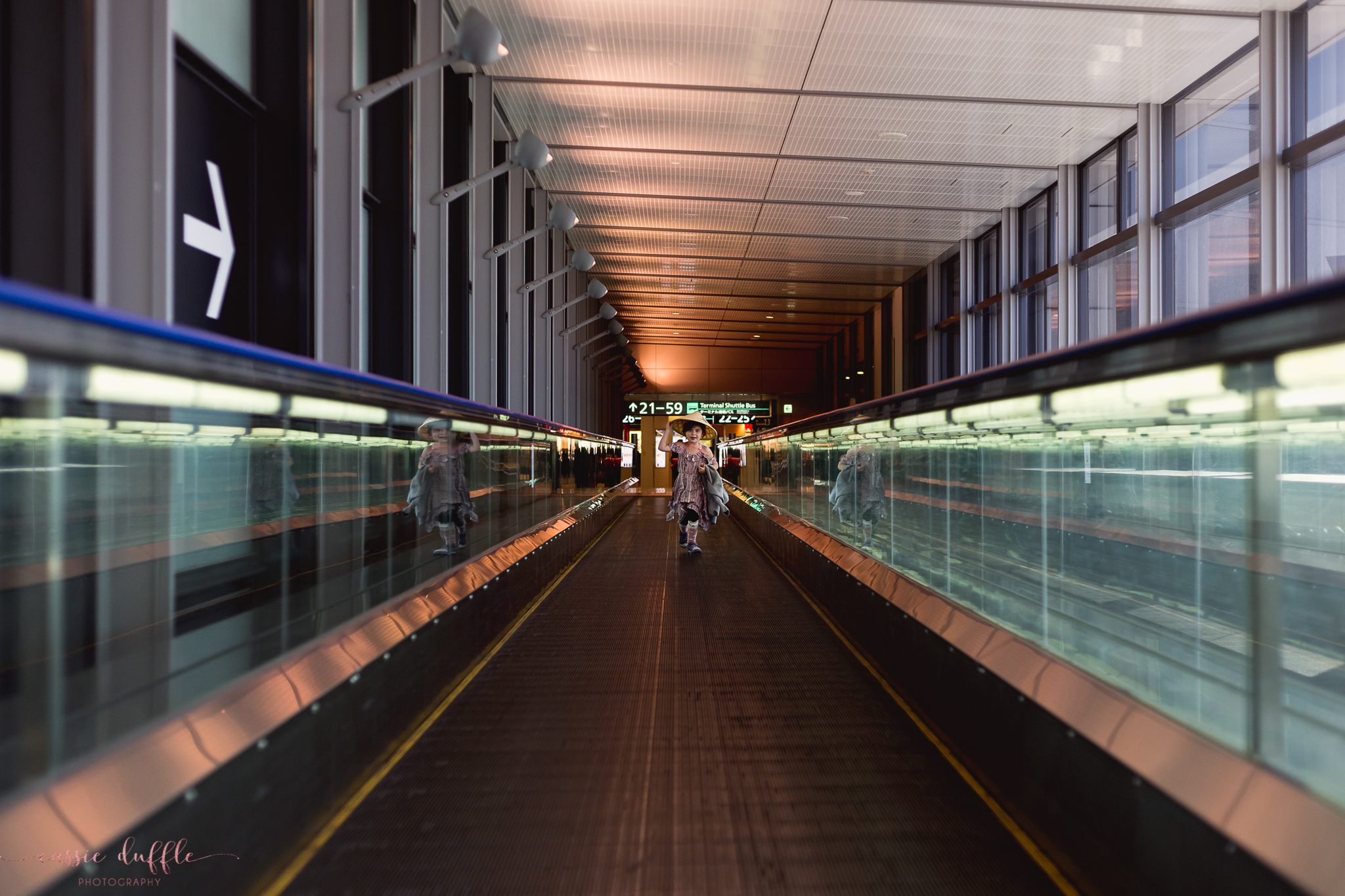 Traveling home through the Tokyo Airport