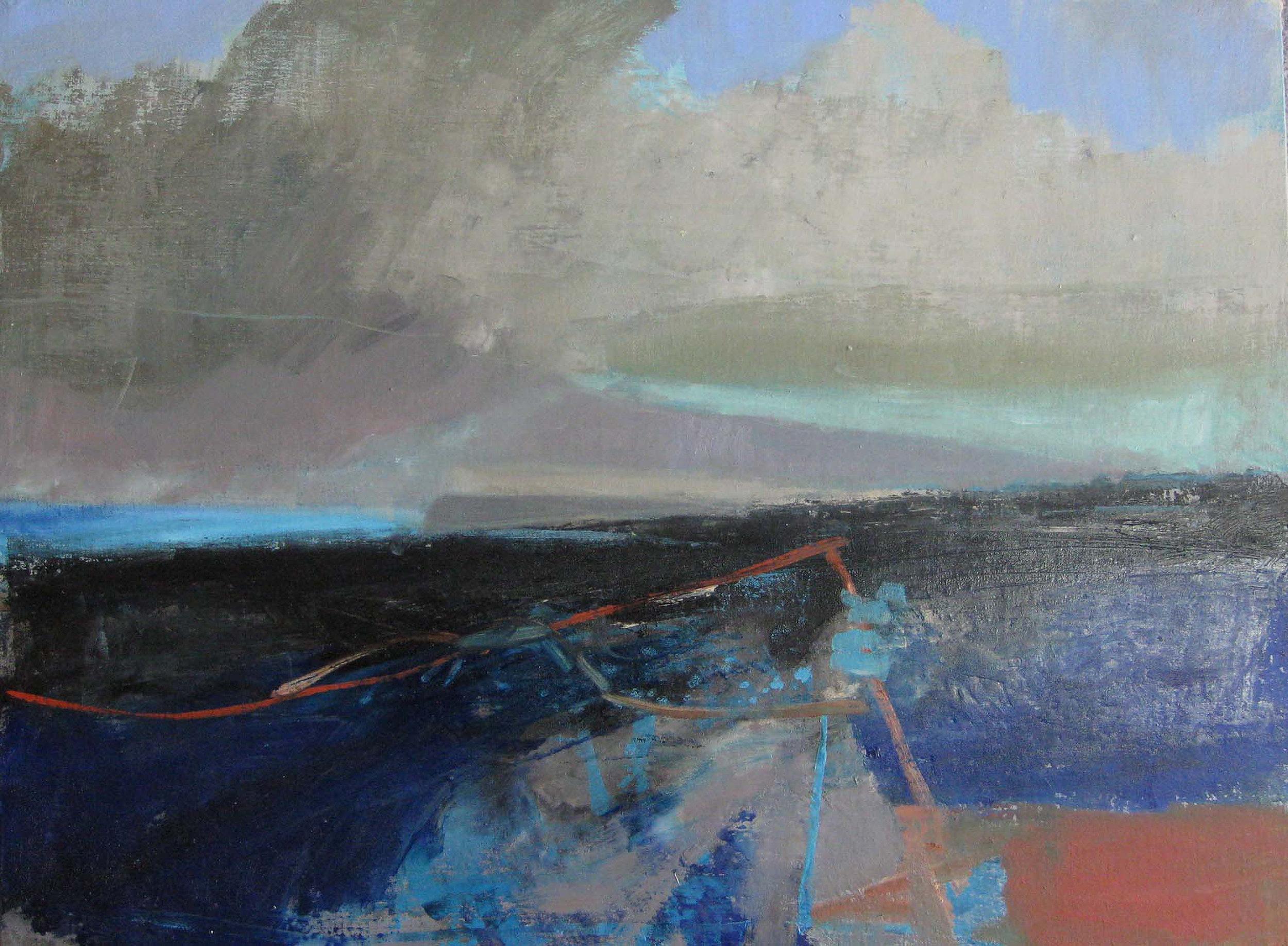 The Pier, Catterline • Oil on Board •POA