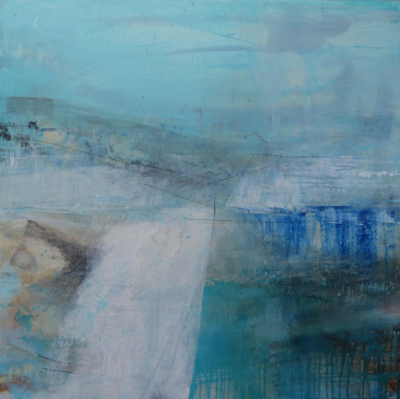 Origami Landscape • Oil on Board • Helen Glassford