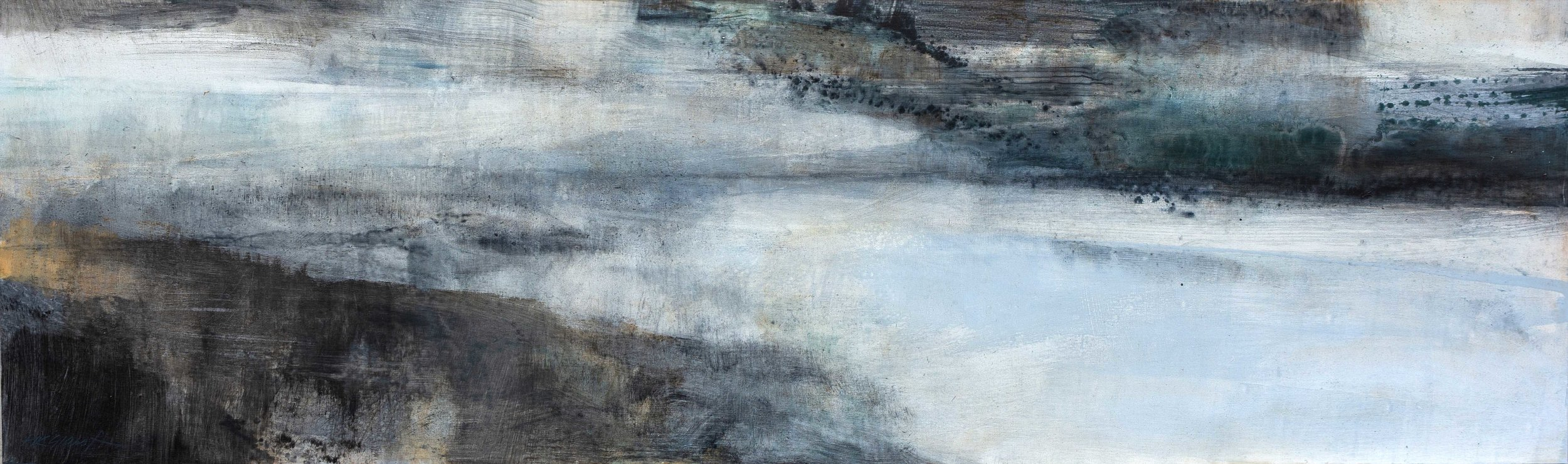 Chance or Fortune • Oil on Board • 38x122cm • Sold