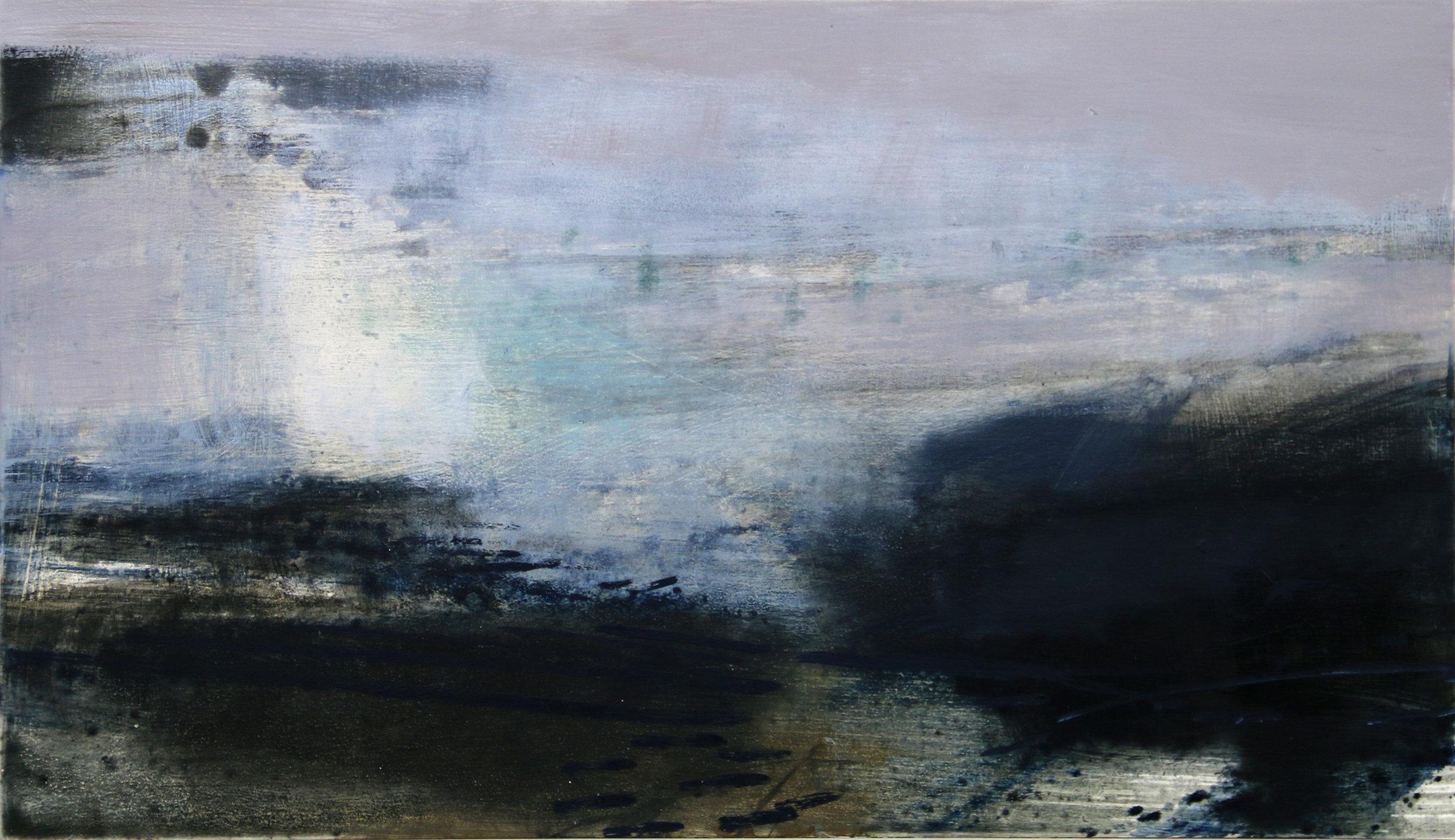 Soft Winter II • Oil on Board • 23x38cm • Sold