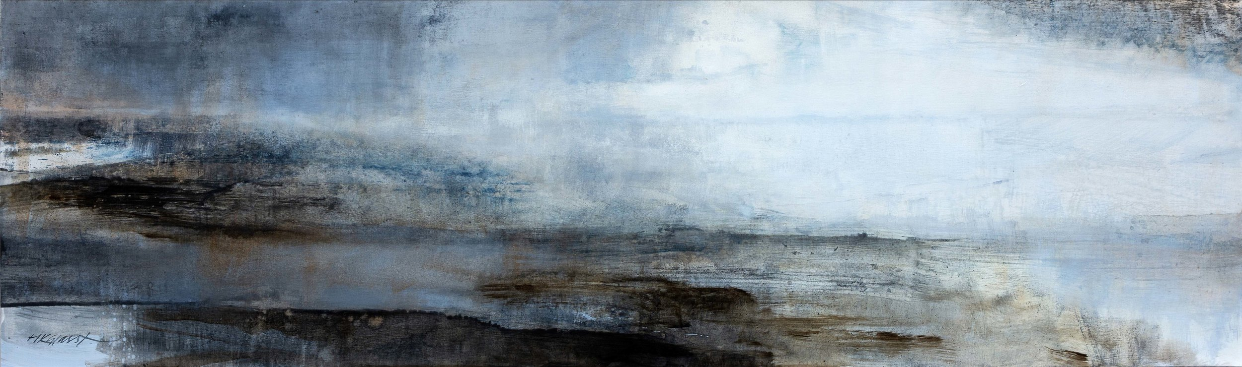 Spellbound • Oil on Board • 40x122cm • Sold