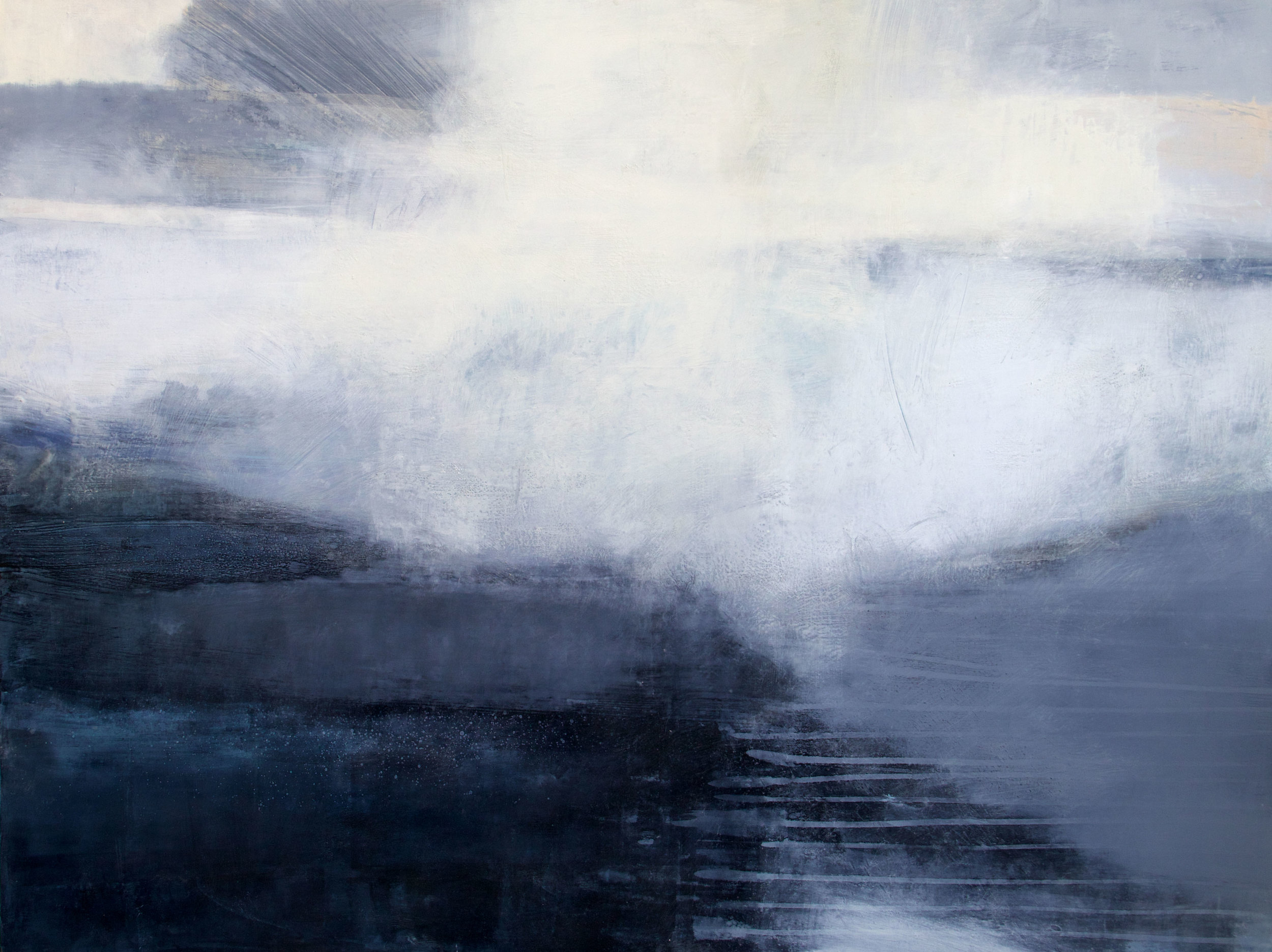 Assynt Light • Oil and Encaustic on Board • 92x122cm •  Enquire