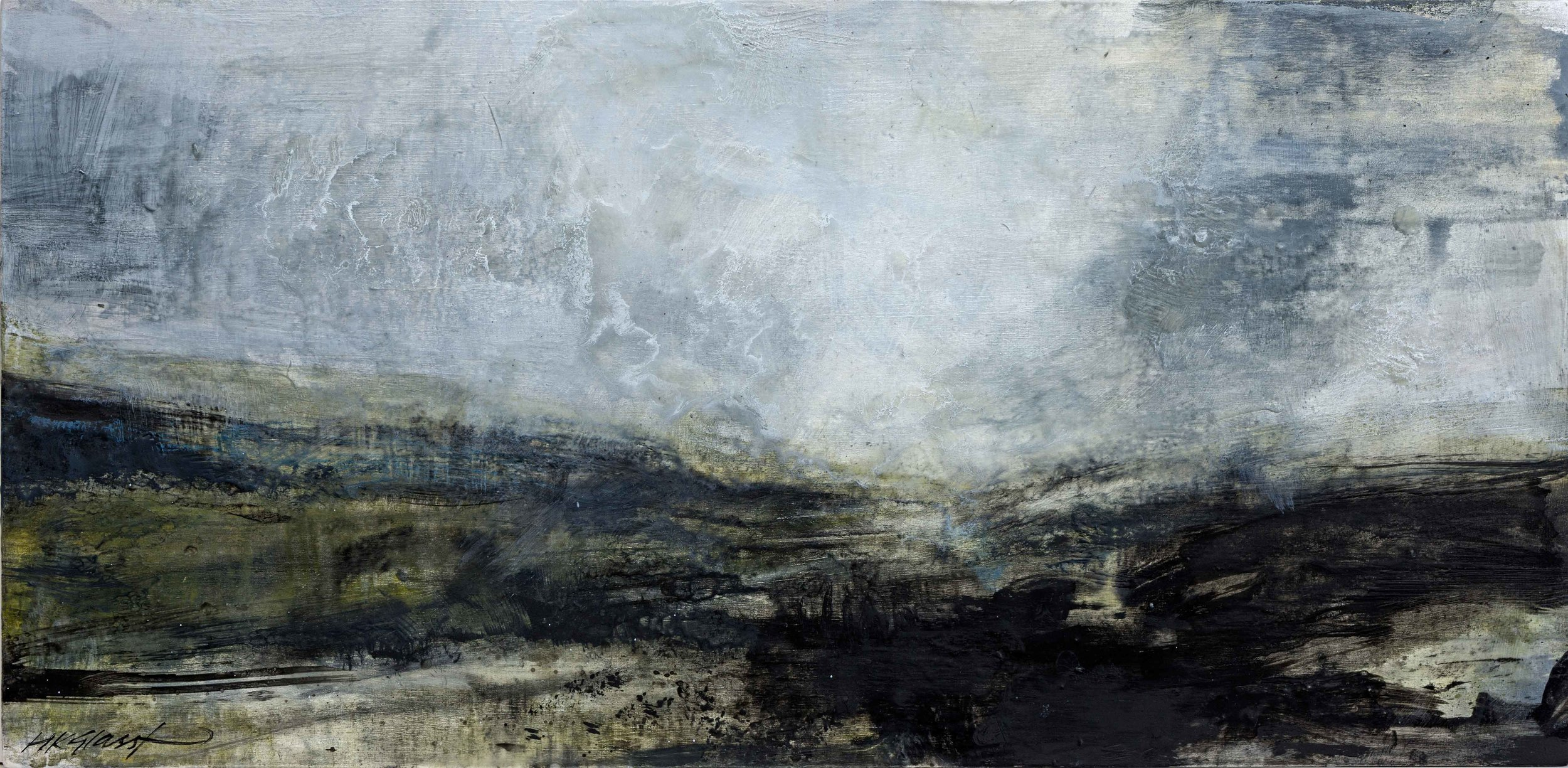 Moor • Oil and Encaustic on Board • 30x 60cm • 2019 • Sold
