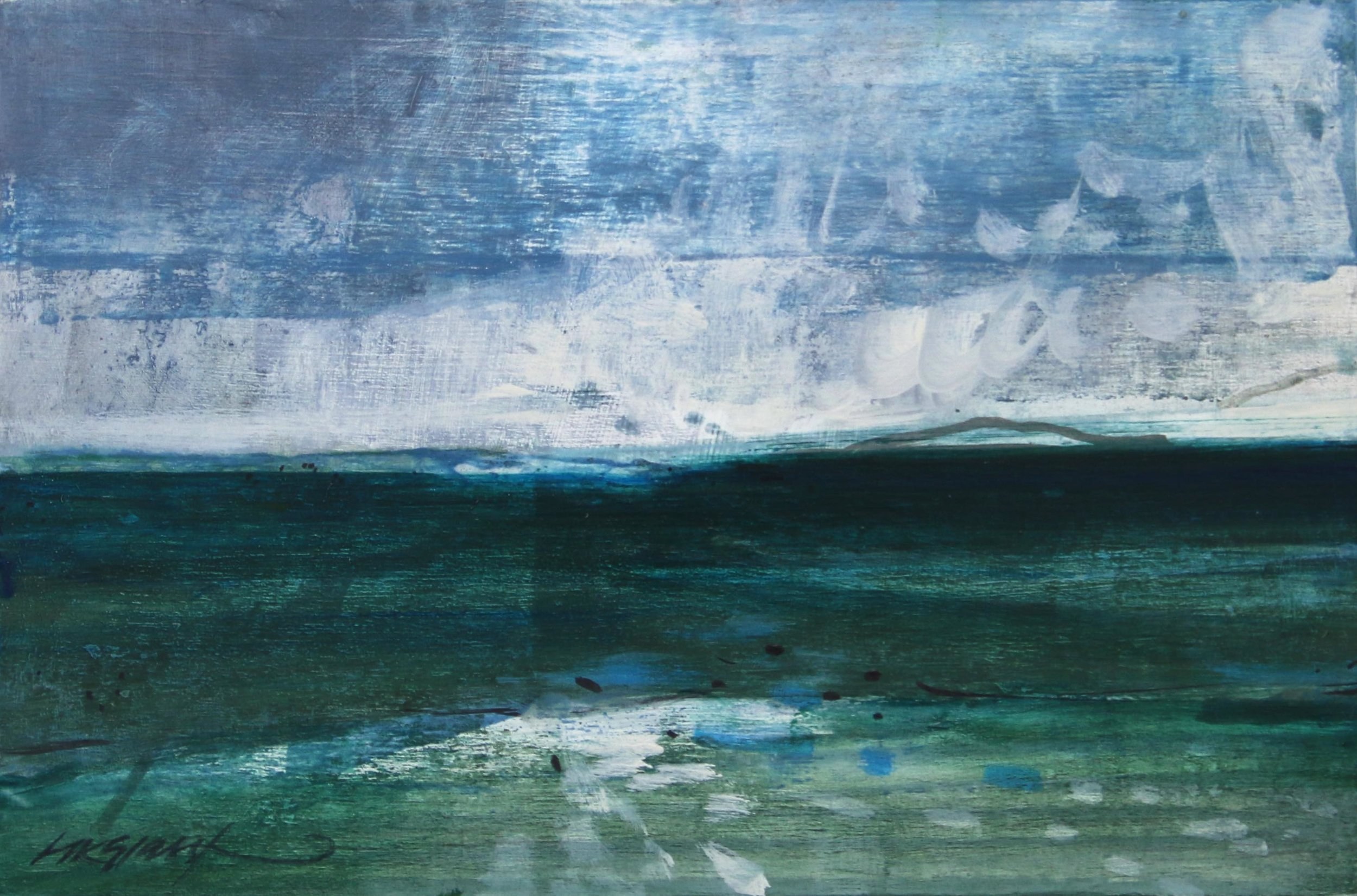 The Tide Goes • Oil on Board • 18x27cm • Sold