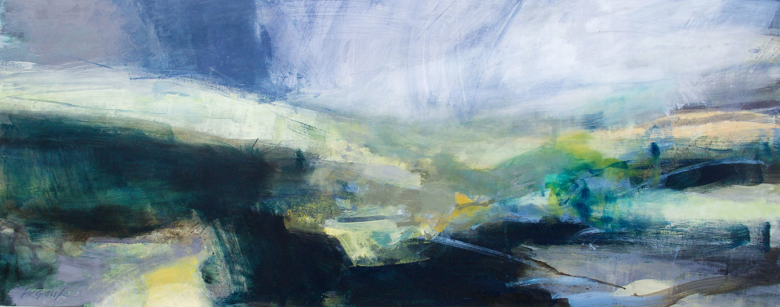 Remember When • Oil on Board • 48x122cm • Sold