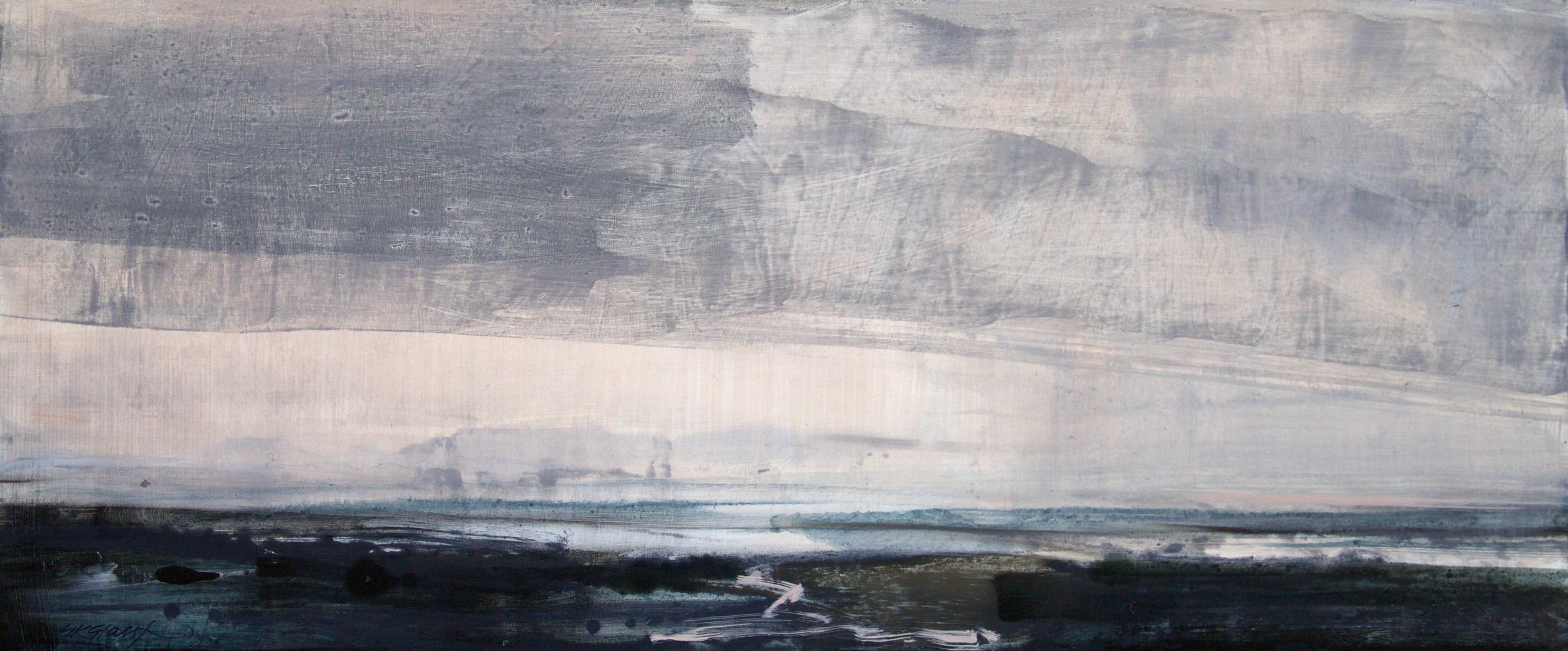 Travelling Light II • Oil on Board • 36x85cm • Reserved