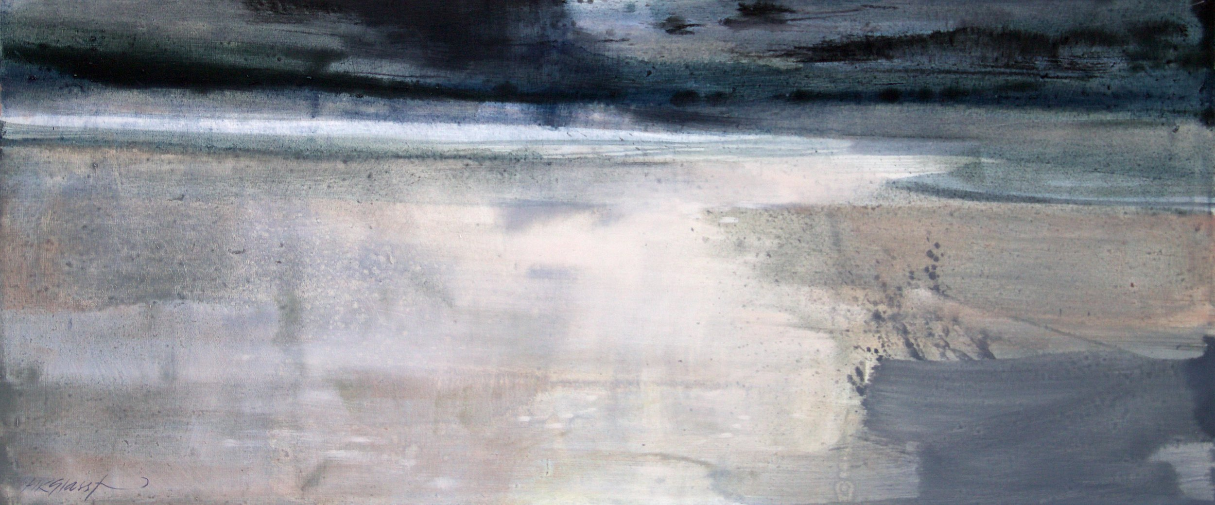 Travelling light • Oil on Board • 36x85cm • Sold