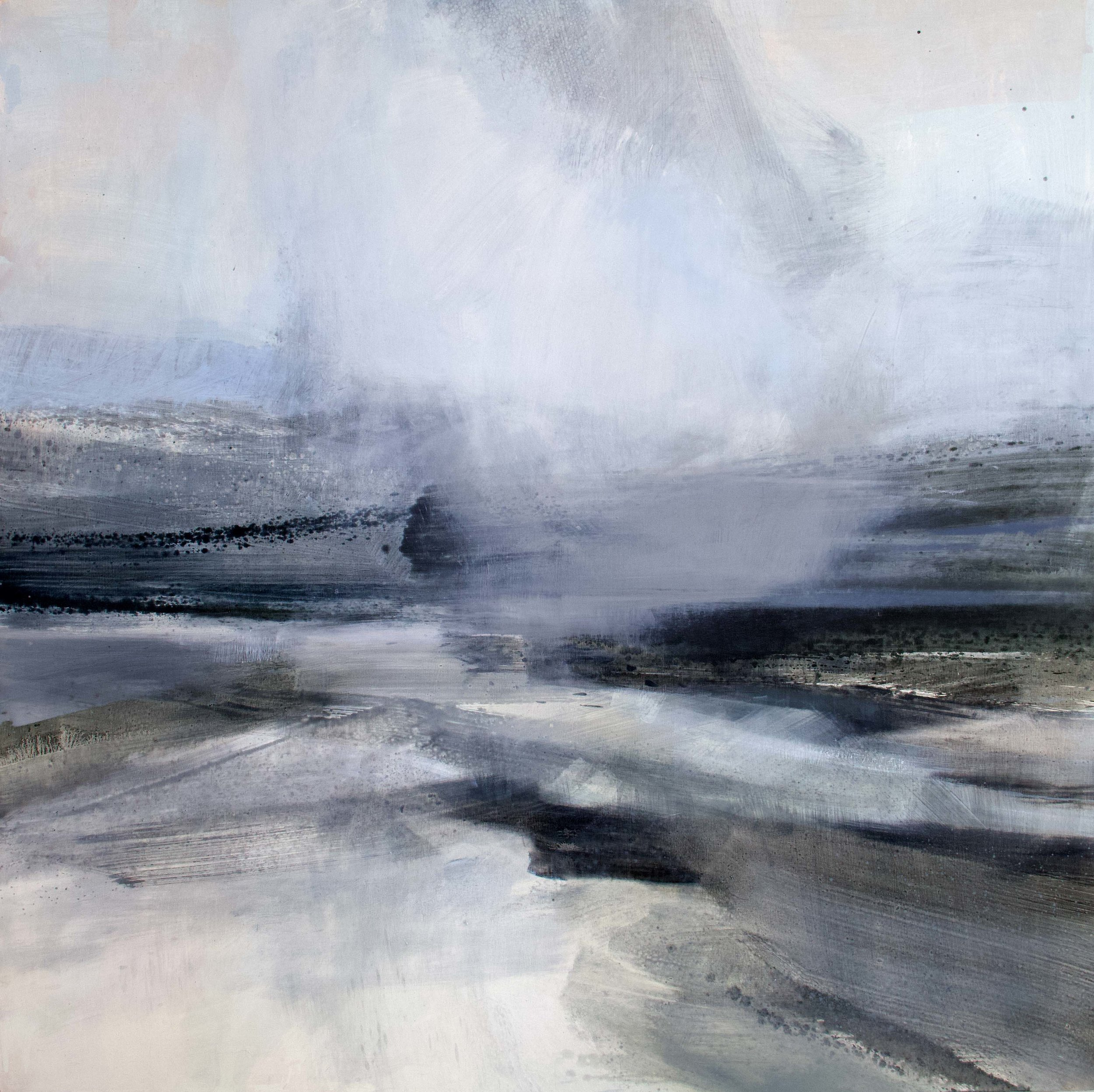 Immerse II • Oil on Board • 120x120cm •  Enquire