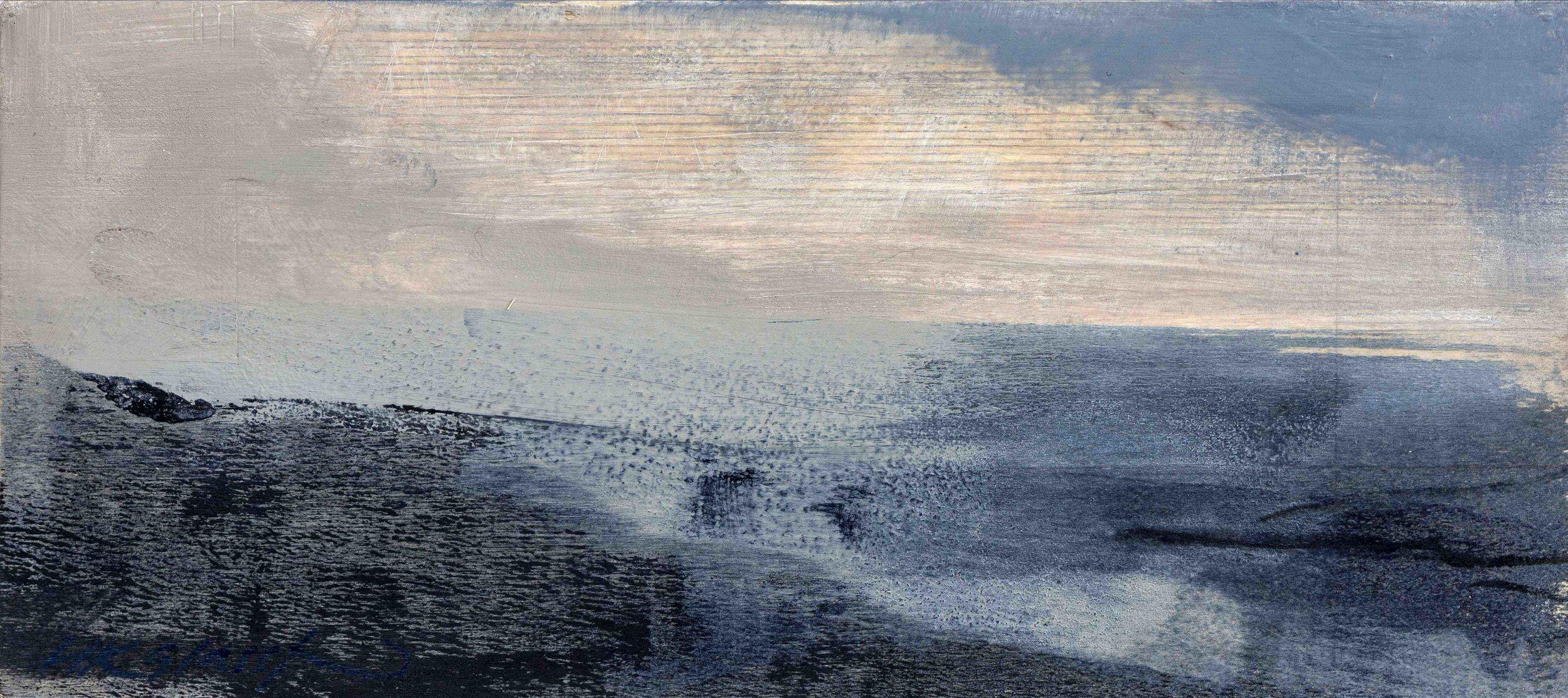 Cast Away II • Oil on Board • 12x27cm • Sold