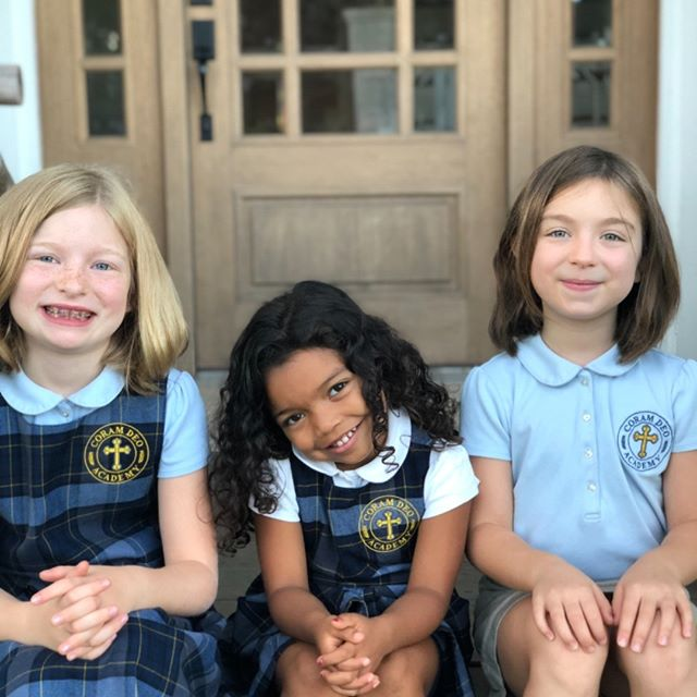 The Barnard girls loooove their school! First day of 4th, 2nd, and Pre-K! @coram_deo_academy