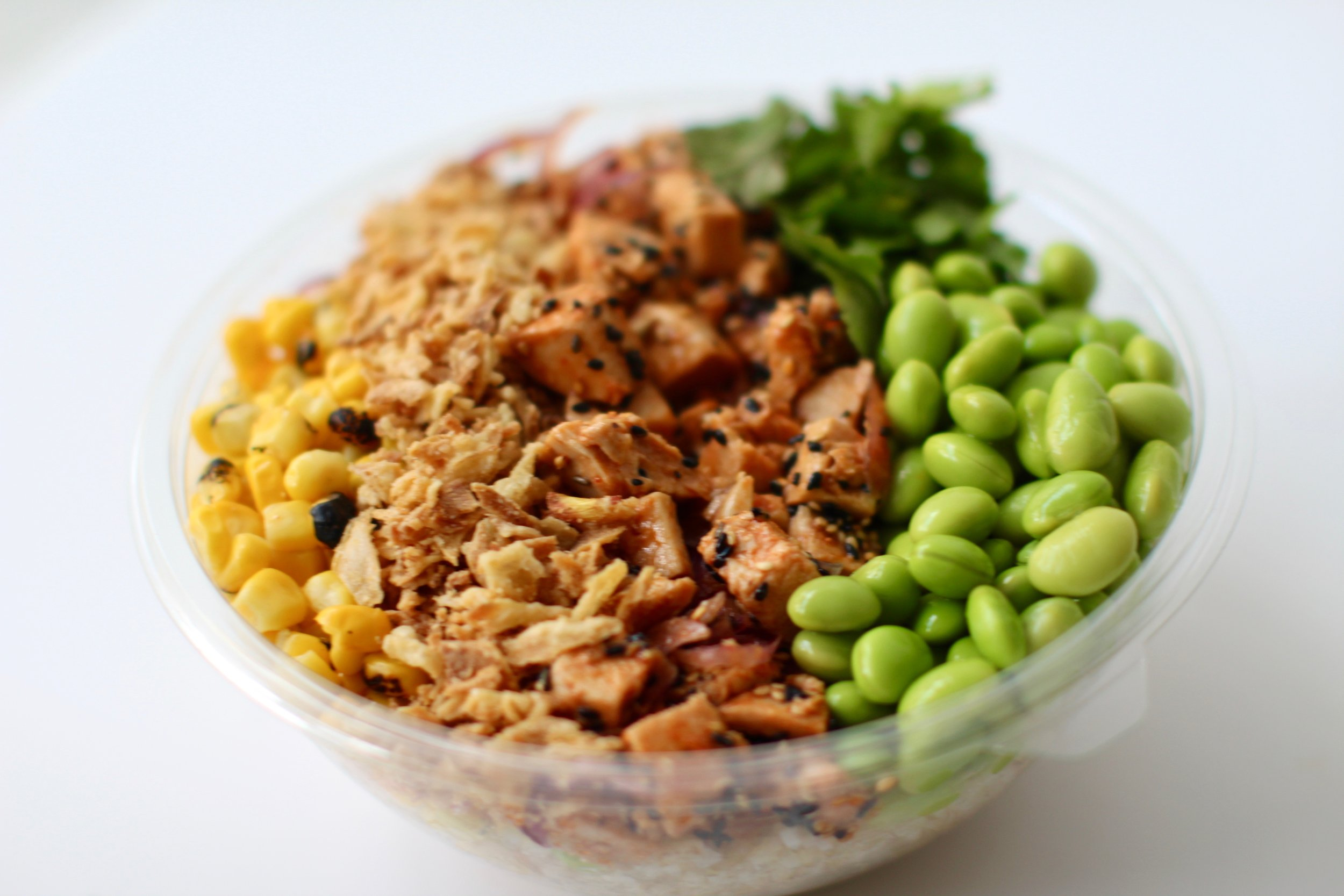 Side Chick - Rice, Spicy Chicken, Red Onion, Burnt Corn, Edamame, Fried Onion, CorianderKorean BBQ (GF,DF)