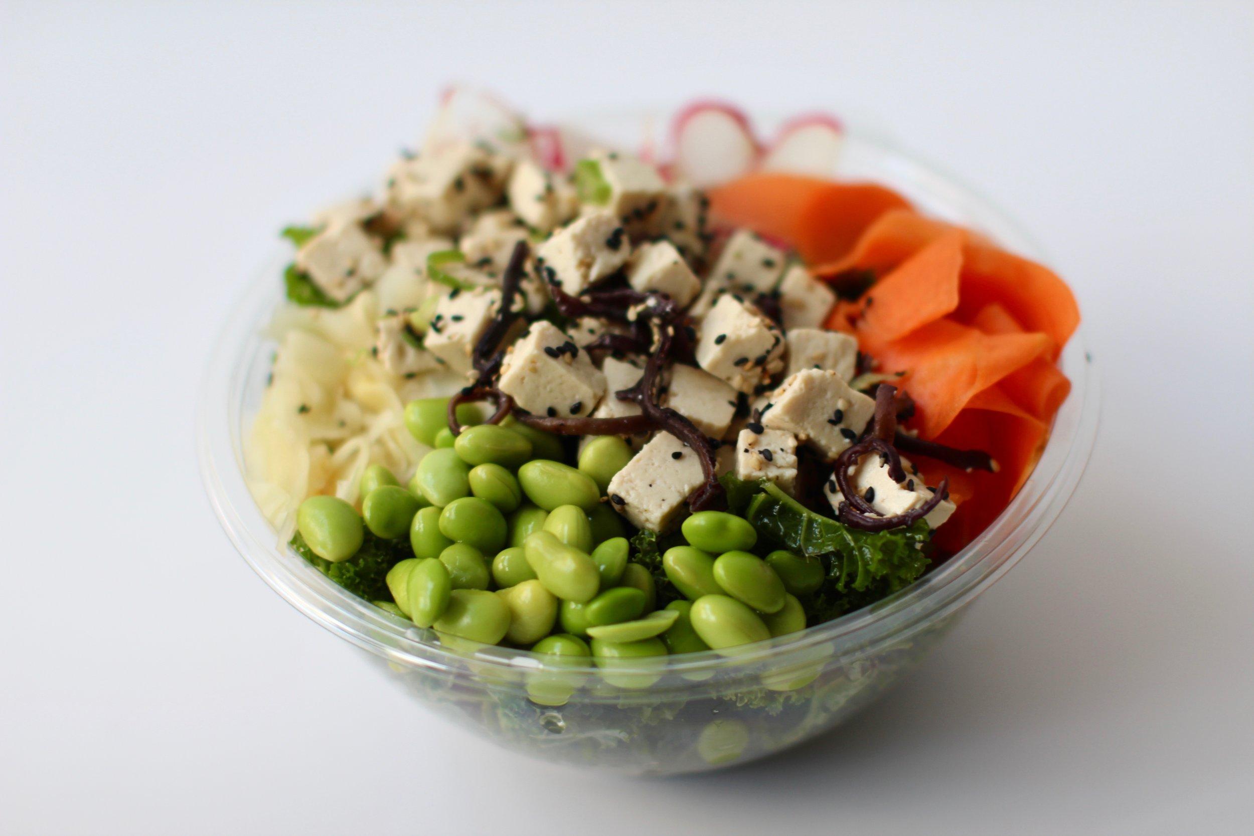 Sweet Green - Kale, Miso Tofu, Sweet Potato, Edamame, Confirt Ginger, Radish, CarrotSweet Ponzu (VG,GF,DF)