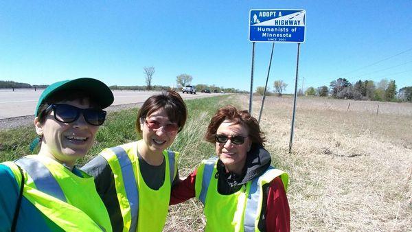 We volunteer in the community