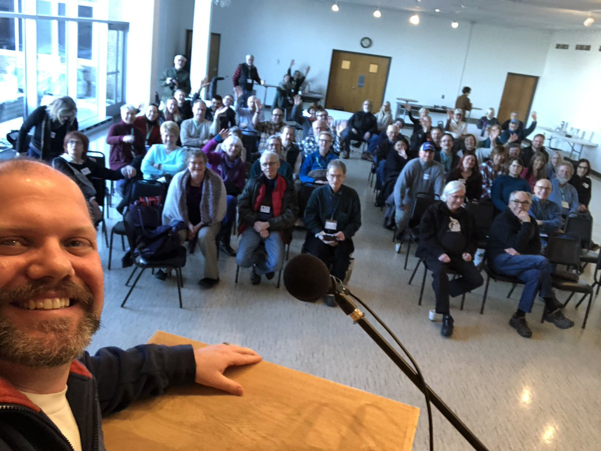 Rep. Mike Freiberg's selfie at our February chapter meeting about marijuana.