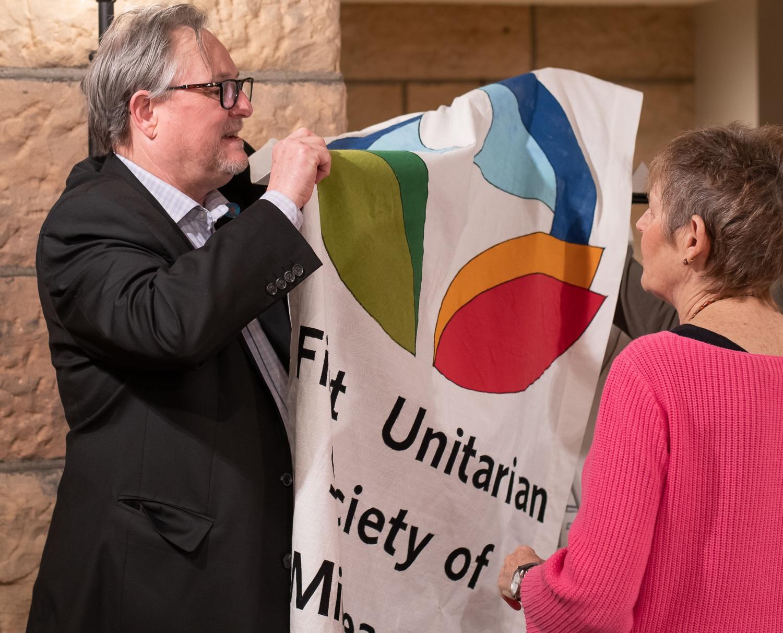 David Breeden, First Unitarian Society, and Carol Logan, Or Emet